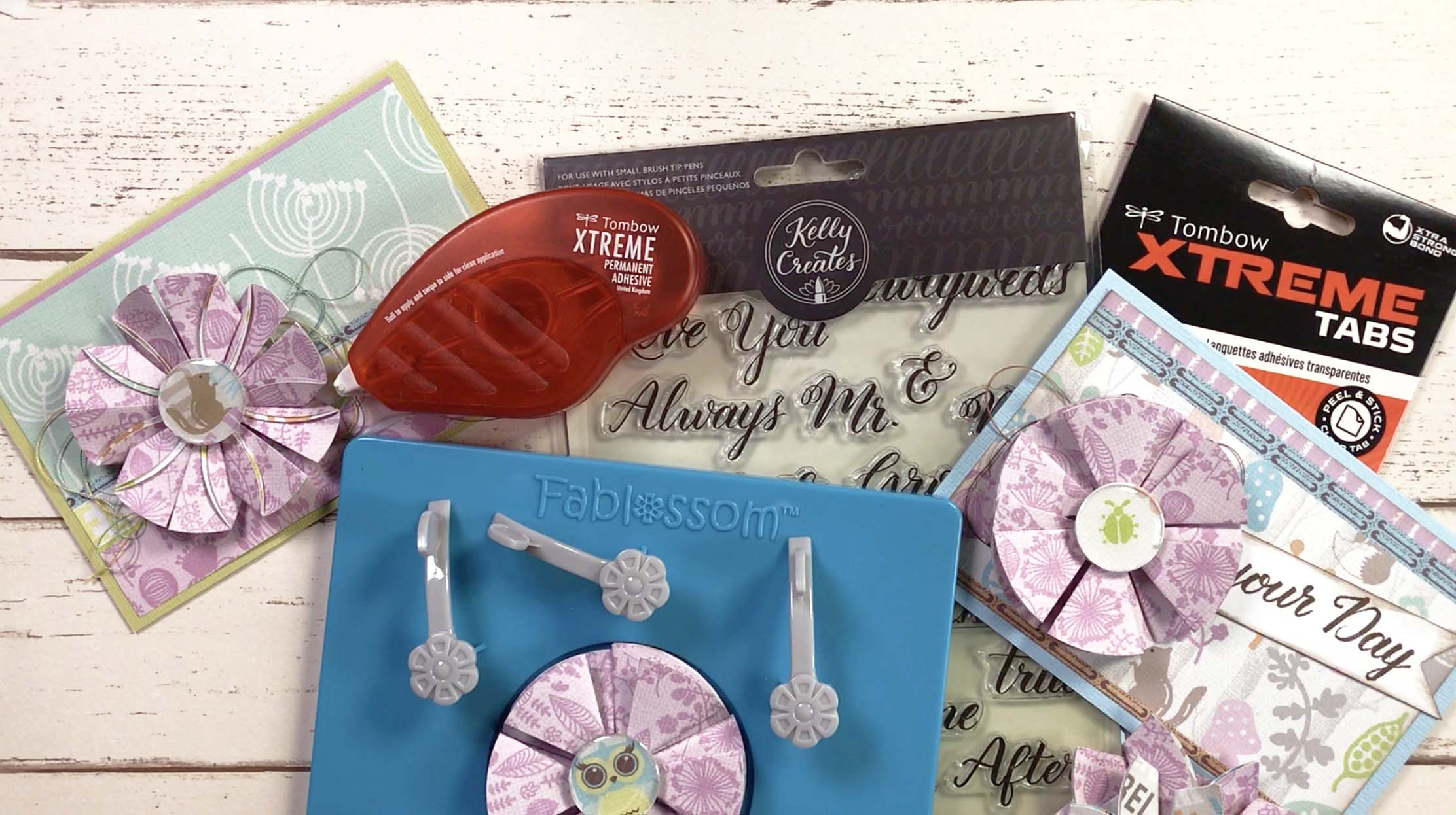 Fablossom Paper Flowers Perfect For Card Making And Scrapbooking