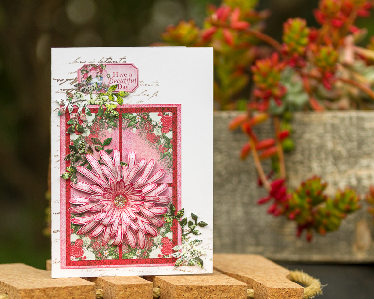 Cardmaking with Heartfelt Creations' Camelia Carnation collection