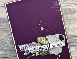 Country Home Stamp Set was used to design this card by Cathy Caines | Creative Scrapbooker Magazine