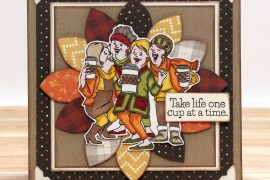 One Cup at A Time card designed by Tracy McLennon featuring Art Impressions | Creative Scrapbooker Magazine