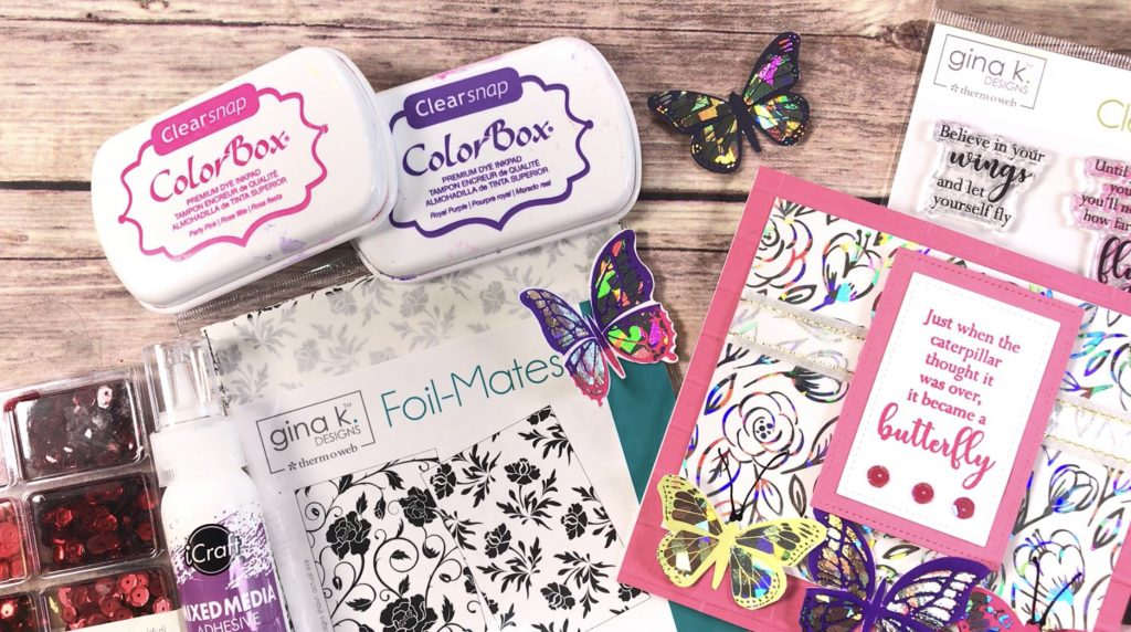 Foil Butterflies featuring Therm O Web and Clearsnap ColorBox Dye Ink | Creative Scrapbooker Magazine