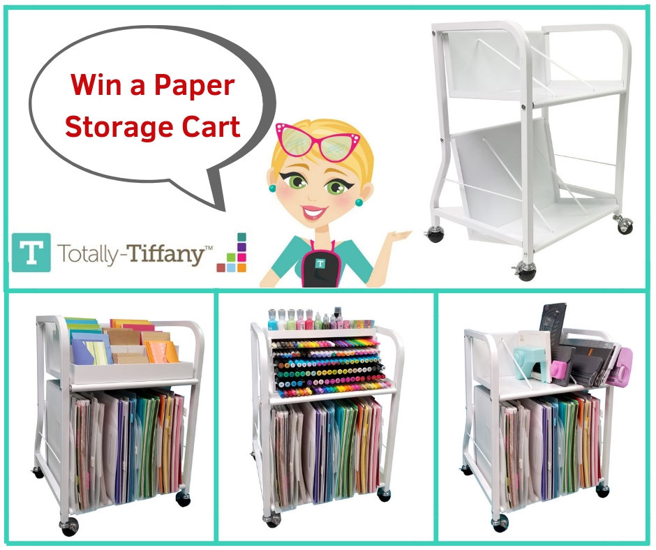 Paper Storage Cart by Totally Tiffany | Creative Scrapbooker Magazine