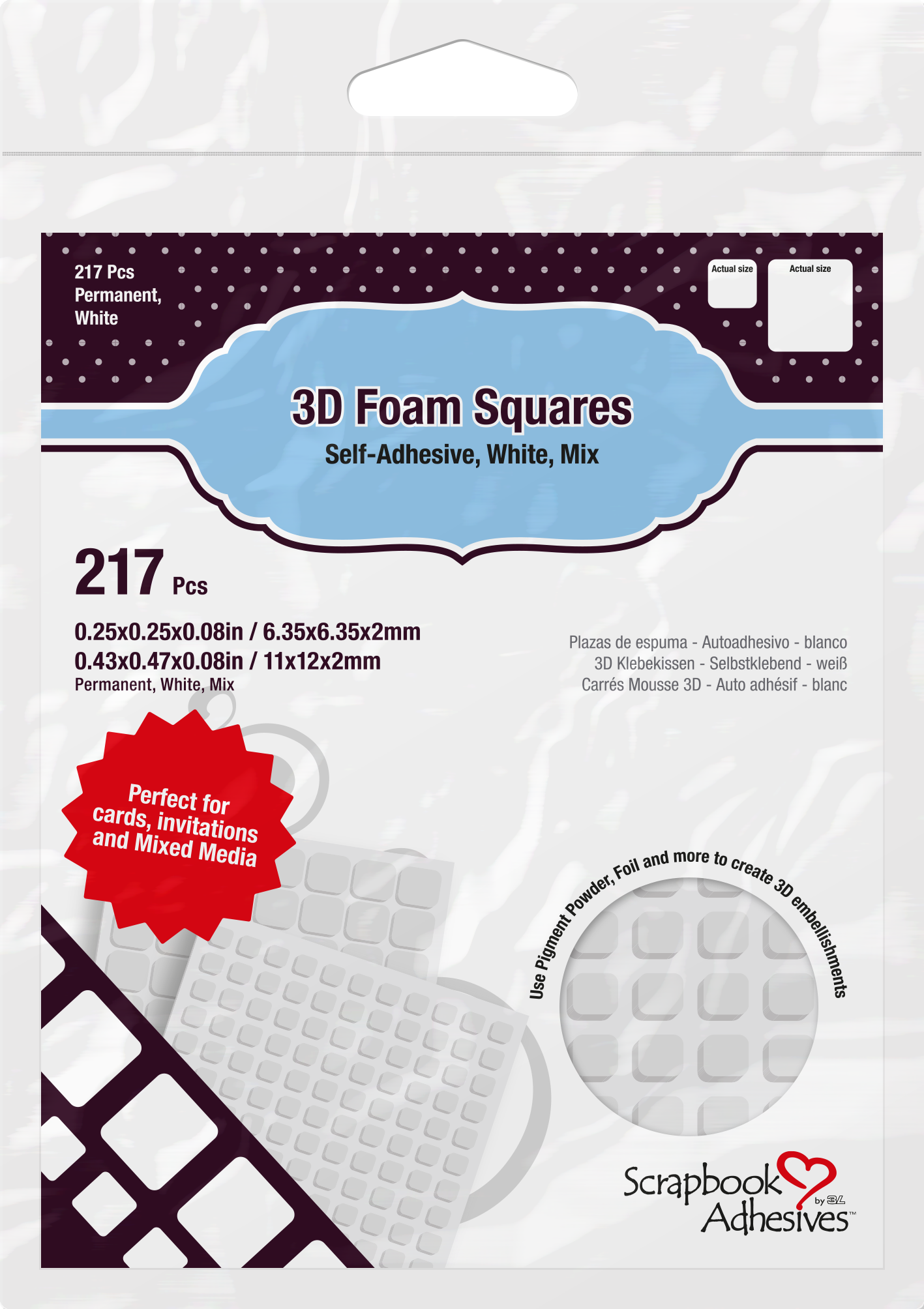 Scrapbook Adhesives by 3: 3D Foam Squares | Creative Scrapbooker Magazine