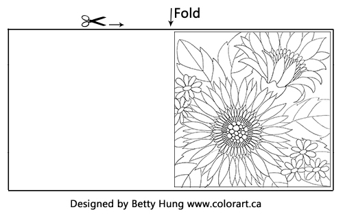 September FREE colouring card by Betty Hung | Creative Scrapbooker Magazine