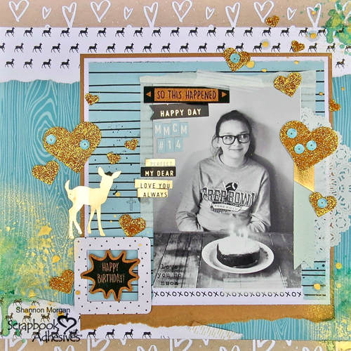 Layout Designed by Shannon Morgan featuring Scrapbook Adhesives by 3L | Creative Scrapbooker Magazine