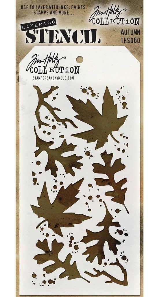Stampers Anonymous Tim Holtz Autumn Stencil | Creative Scrapbooker Magazine