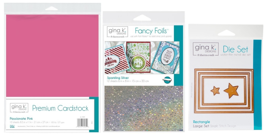 Therm O Web Gina K. Designs Cardstock, Fancy Foils and Dies | Creative Scrapbooker Magazine