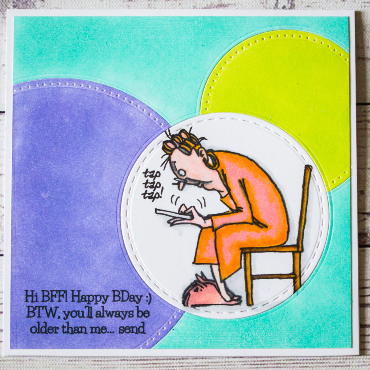 happy birthday card using art impressions stamp set clearsnap inks elizabeth craft designs dies