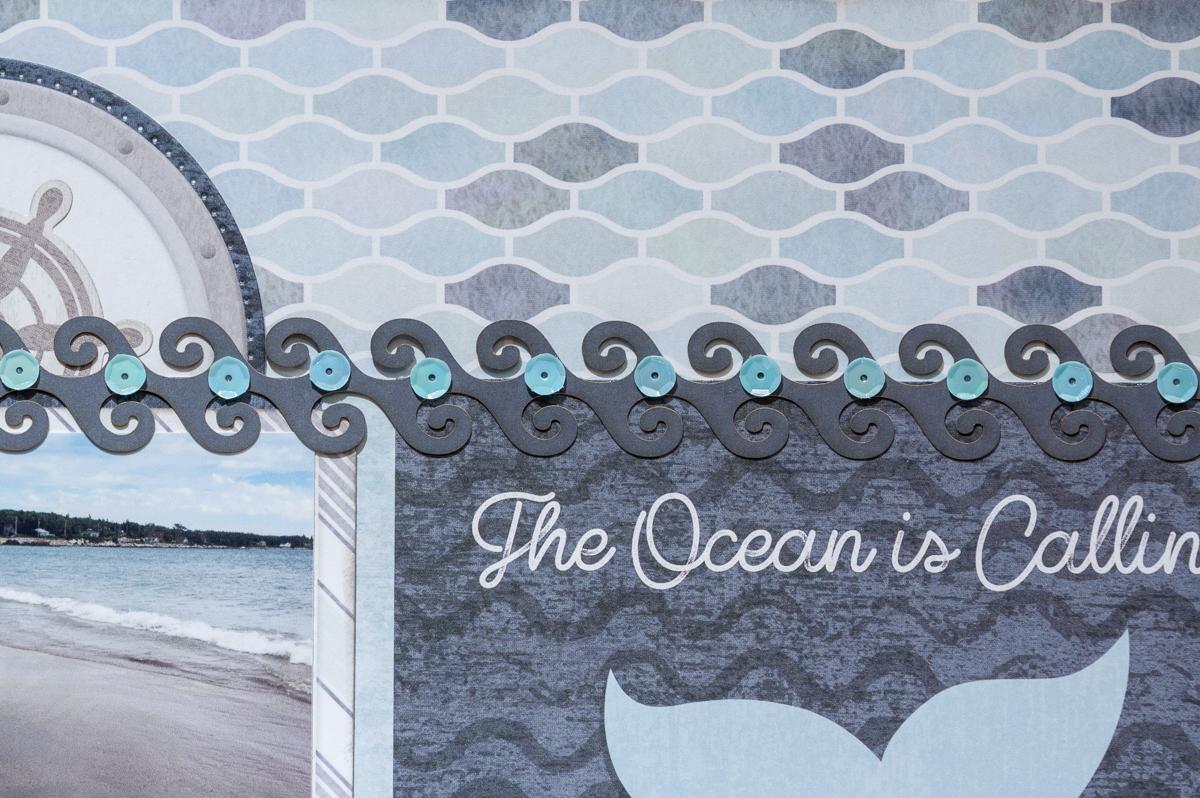 Creative Memories Maritime Collection ? diecut border embellishment / Wild Whisper sequins