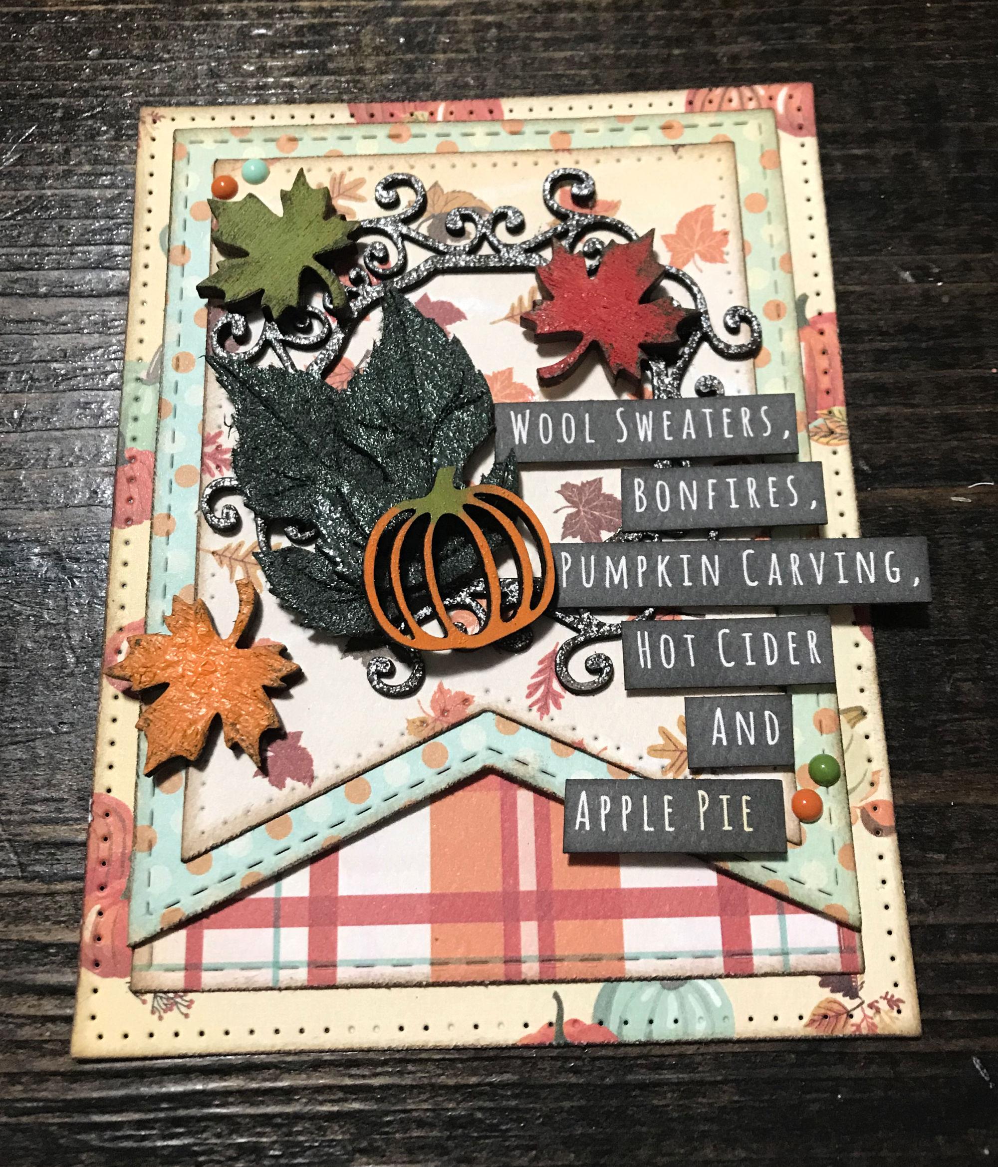 Fall Break Wall Hanging Designed by Katelyn Grosart | Creative Scrapbooker Magazine