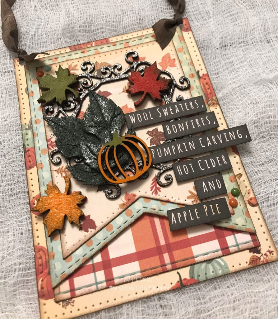 Fall Break Wall Hanging Designed by Katelyn Grosart | Creative Scrapbooker Magazine