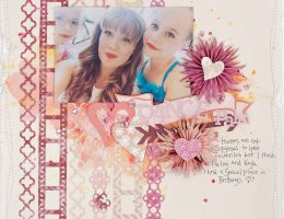 Scrapbook layout featuring border punches designed by Christy Riopel | Creative Scrapbooker Magazine