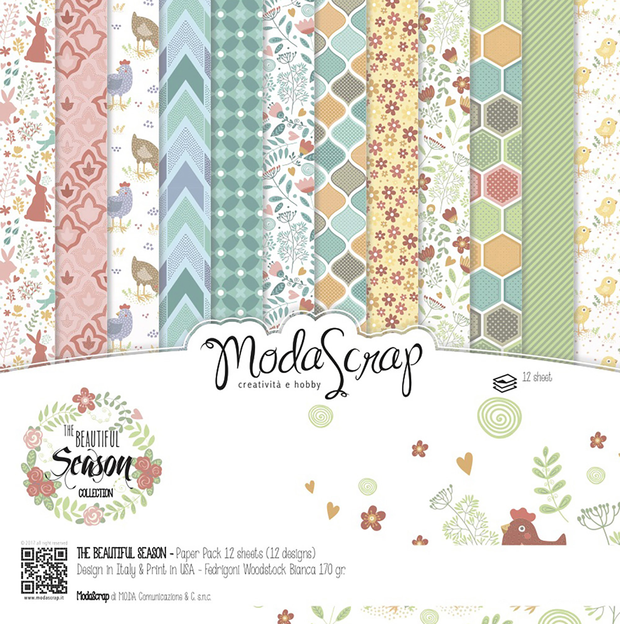 Moda Scraps Patterned Paper Distributed by Elizabeth Craft Designs