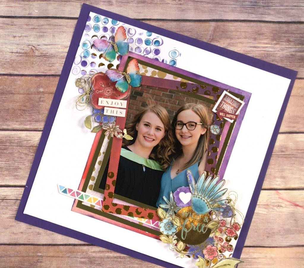 Layout designed by Kerry Engel | Creative Scrapbooker Magazine