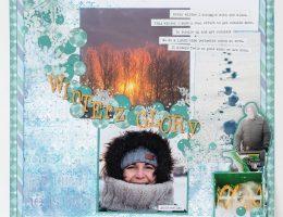 Layout designed by Kerry Engel   Creative Scrapbooker Magazine
