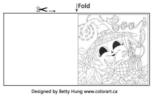 October Coloring Card designed by Betty Hung