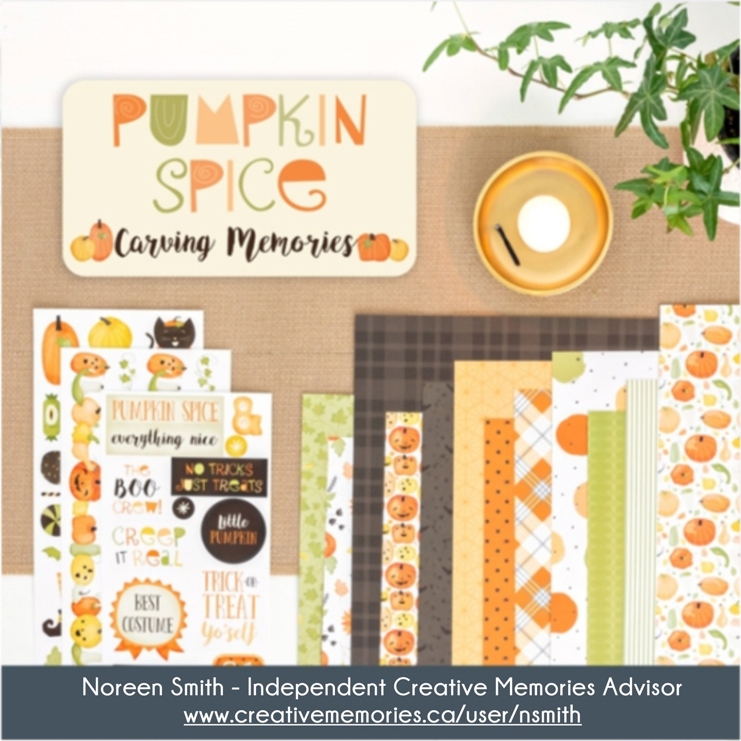 Pumpkin Spice Collection by Creative Memories - Layout designed by Noreen Smith | Creative Scrapbooker Magazine