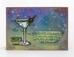 Martini Card designed by Kerry Engel Featuring Stampers Anonymous | Creative Scrapbooker Magazine