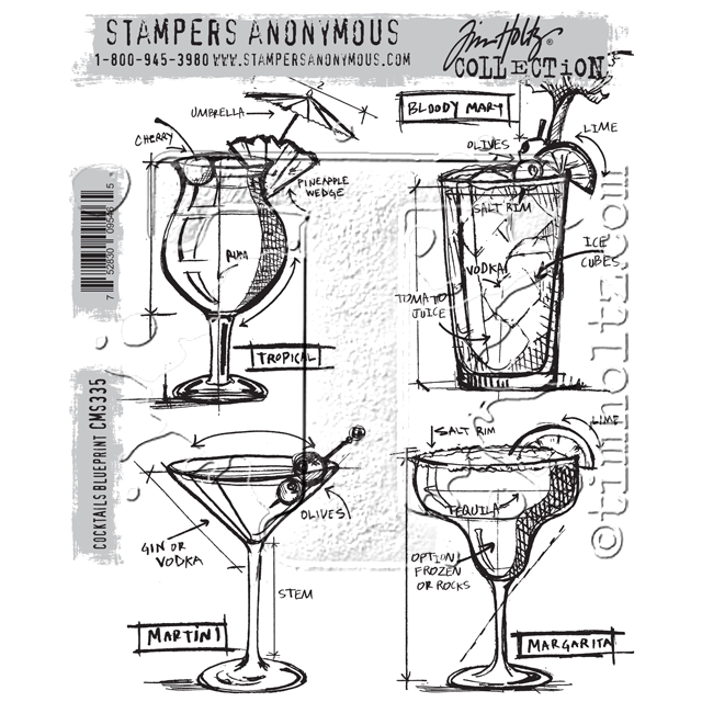 Stampers Anonymous Martini stamp set | Creative Scrapbooker Magaazine