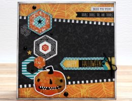 Halloween Card Designed by Tracy McLennon featuring Creative Memories Toil & Trouble Collection   Creative Scrapbooker Magazine