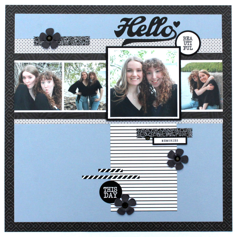 Layout designed by Tracy McLennon featuring the Creative Memories Black and White Collection | Creative Scrapbooker Magazine