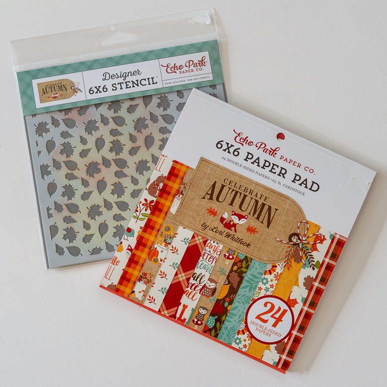 Customize your ribbon with Brother P-touch CUBE / scrapbooking with sketches / Echo Park Celebrate Autumn collection