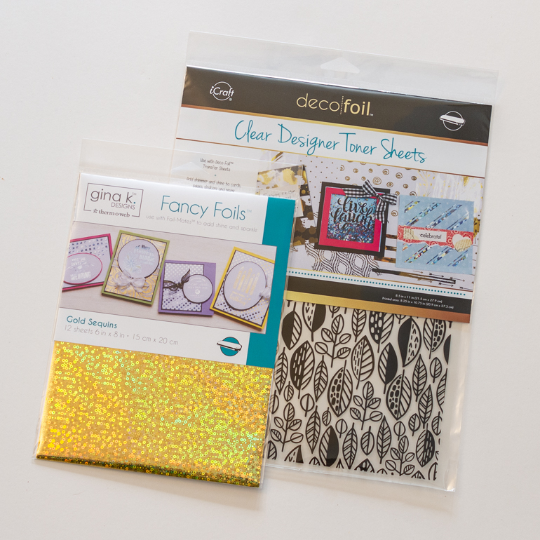 Customize your ribbon with Brother P-touch CUBE / scrapbooking with sketches / Therm-o-web foil fun