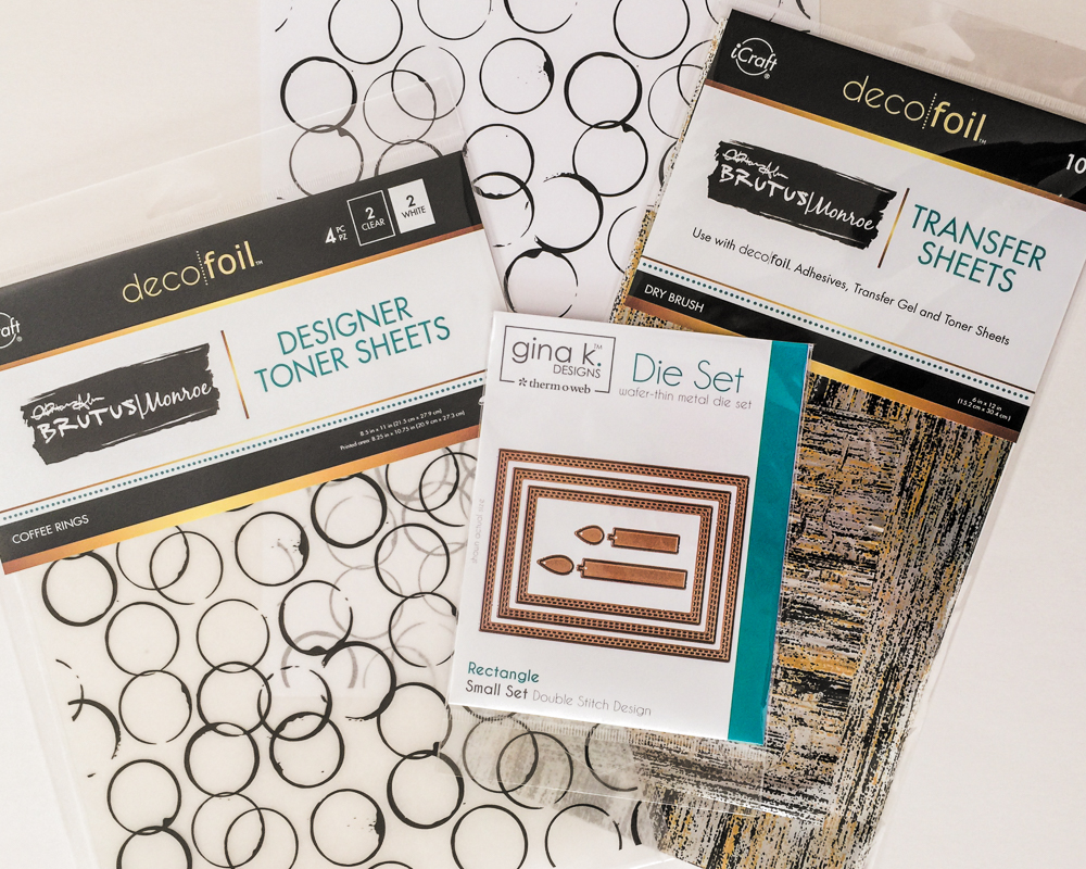 Therm-o-Web Toner Sheets and Deco Foil / Brutus Monroe and Gina K.