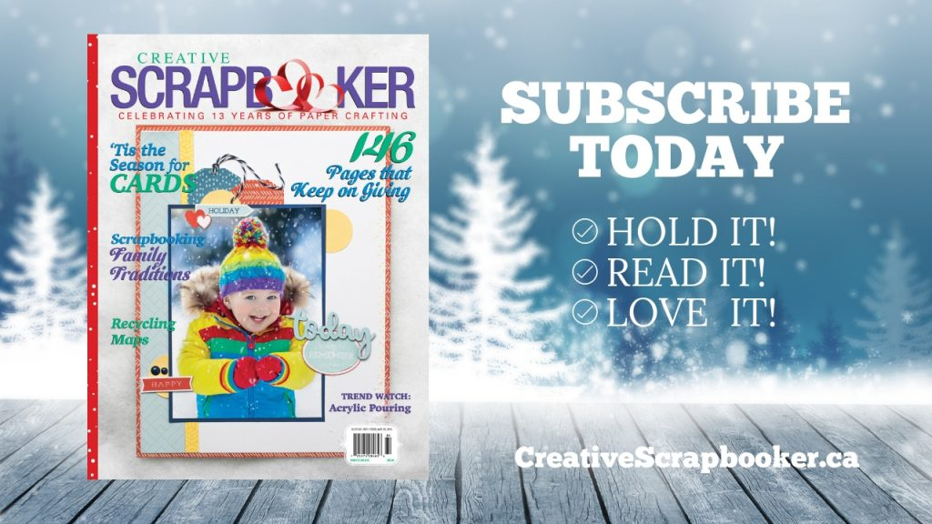 Creative Scrapbooker Magazine Winter issue / CSM /