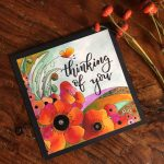 Beautiful poppy card designed by Betty Hung featuring Kelly Creates | Creative Scrapbooker Magazine