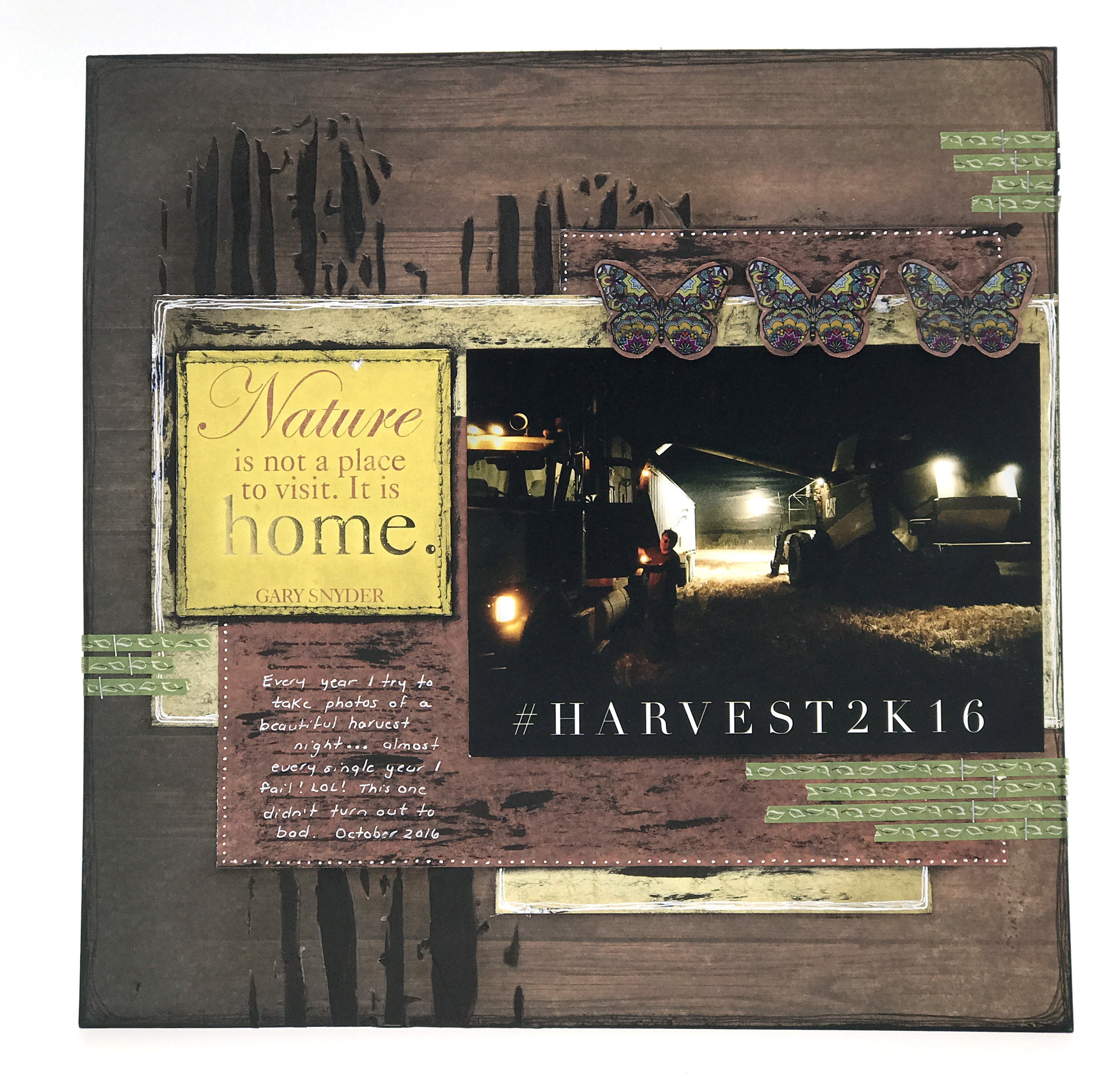 Layout designed by Jackie Ludlage featuring Paper House Productions Field Study Collection