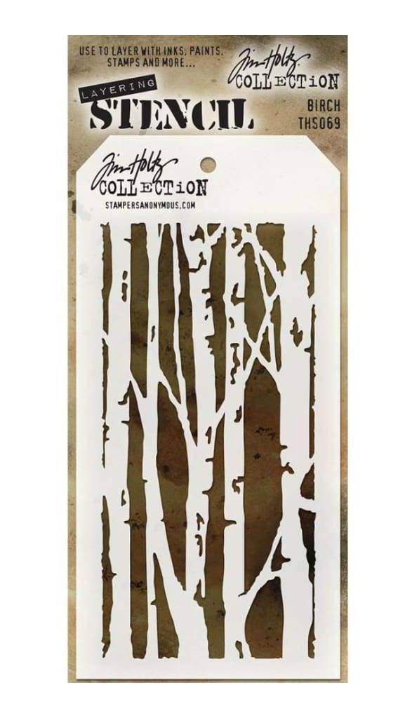 Stampers Anonymous Tim Holtz Birch Stencil | Creative Scrapbooker Magazine