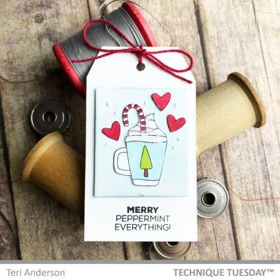 Technique Tuesday Christmas Tag | Creative Scrapbooker Magazine