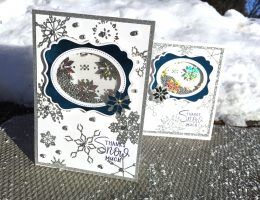 Christmas SHAKER card designed by Kerry Engel featuring Therm O Web | Creative Scrapbooker Magazine