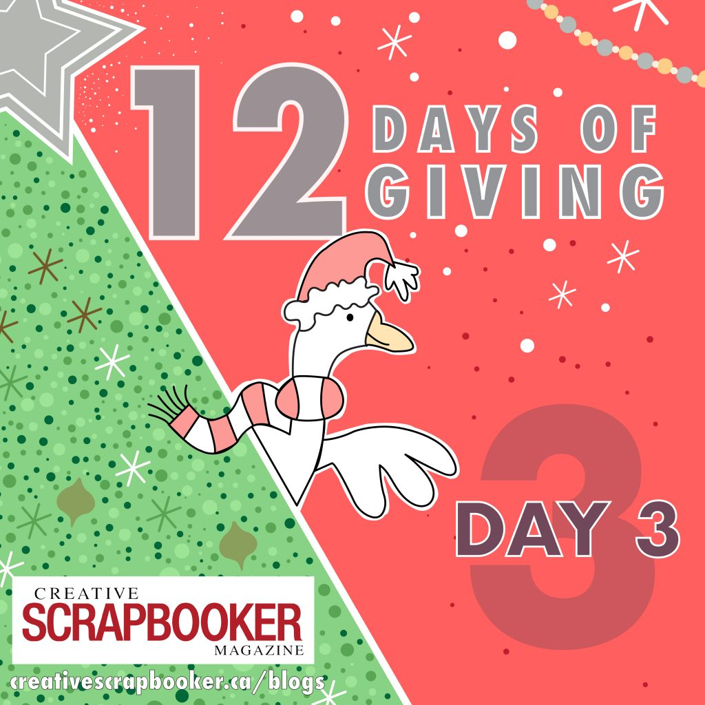12 Days of Giving - Day #3 | Creative Scrapbooker Magazine
