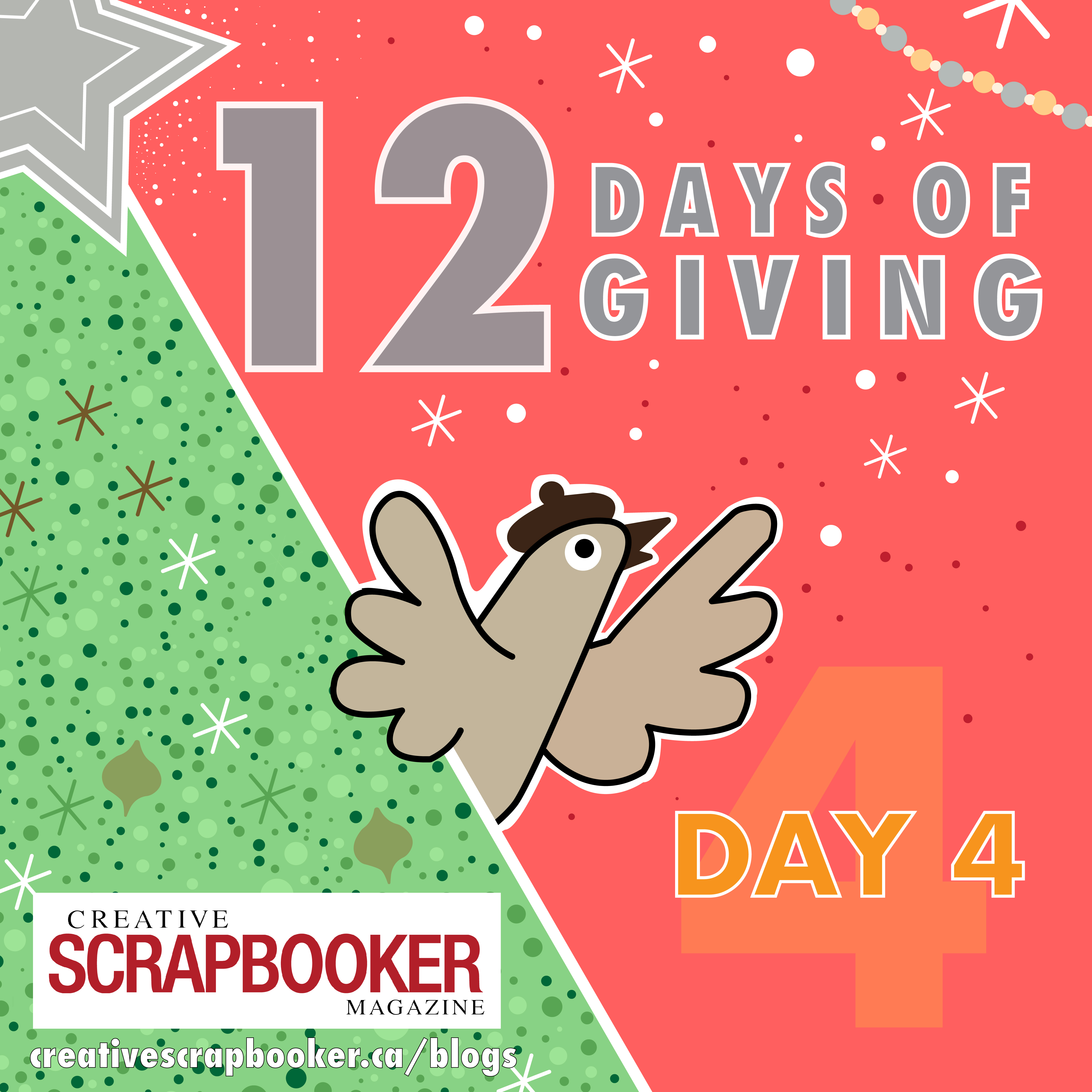Day #4 12 Days of Giving with Creative Scrapbooker Magazine