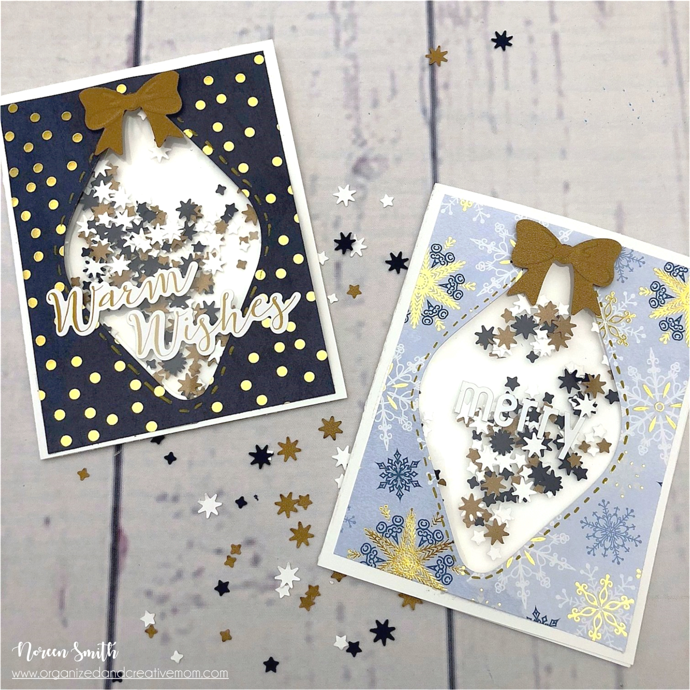 Shaker Cards Designed by Noreen Smith featuring Creative Memories | Creative Scrapbooker Magazine