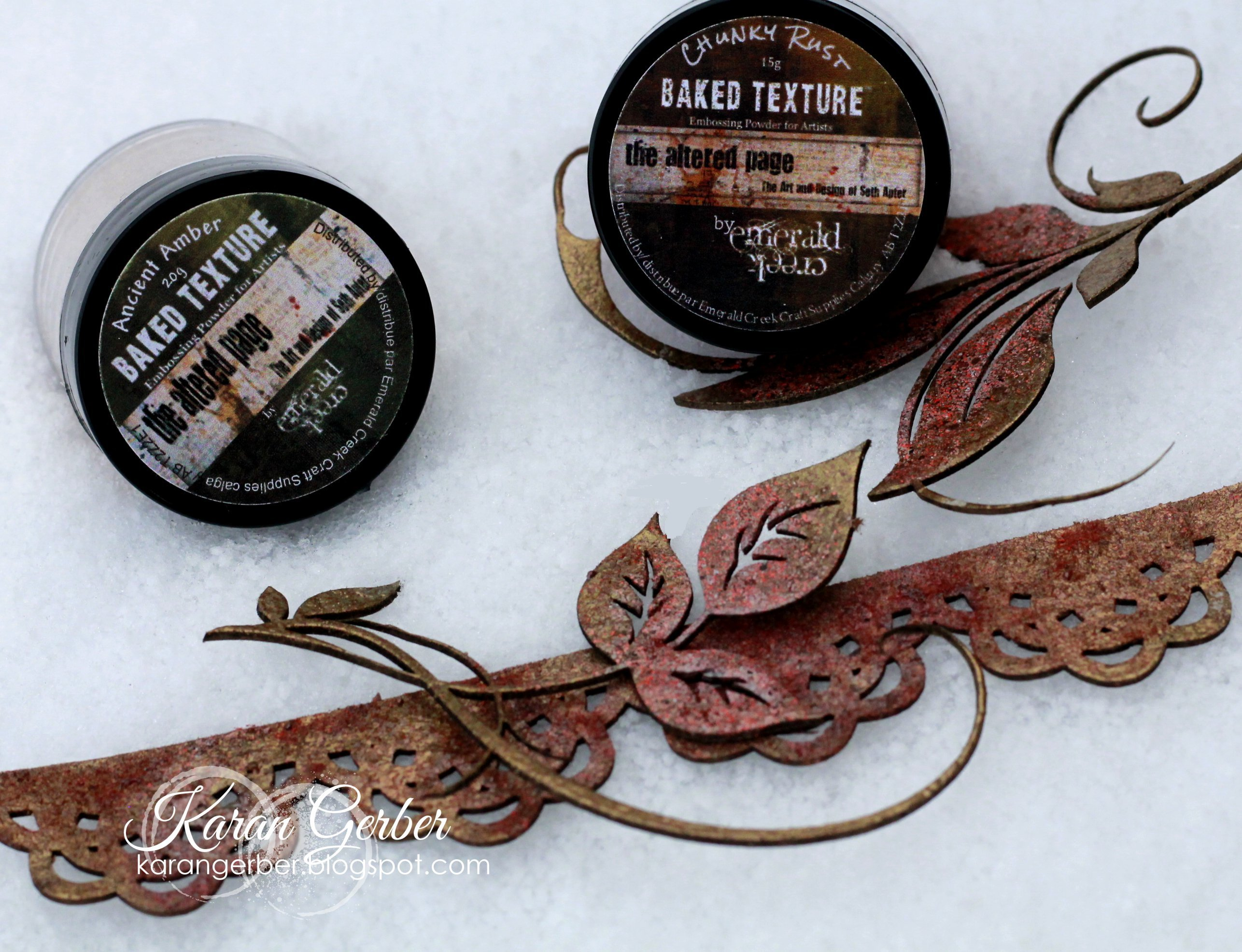 Embossing powders from Emerald Creek