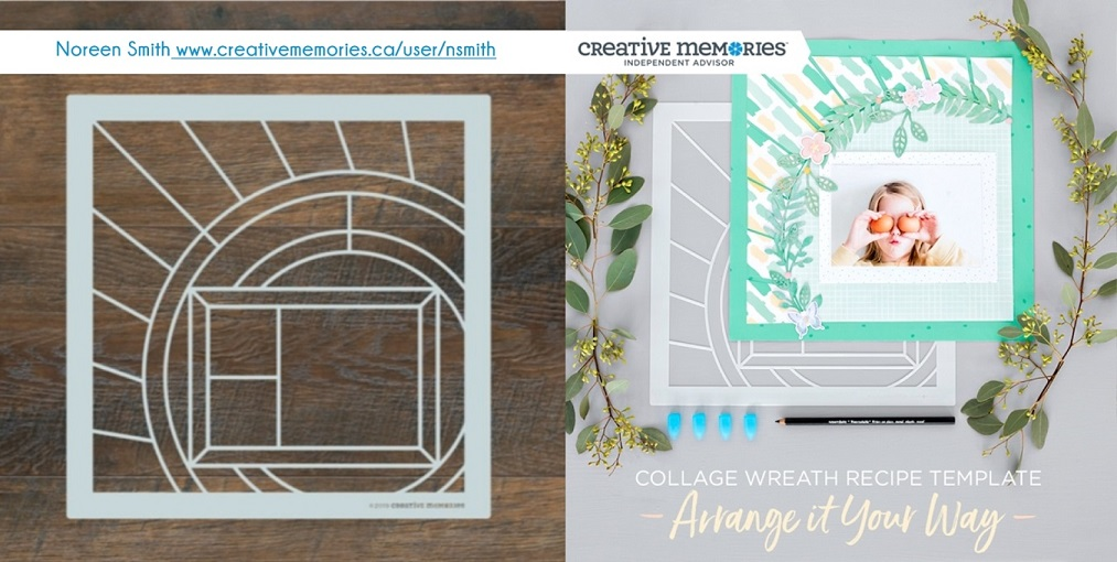 Collage Wreath Template by Creative Memories | Creative Scrapbooker Magazine