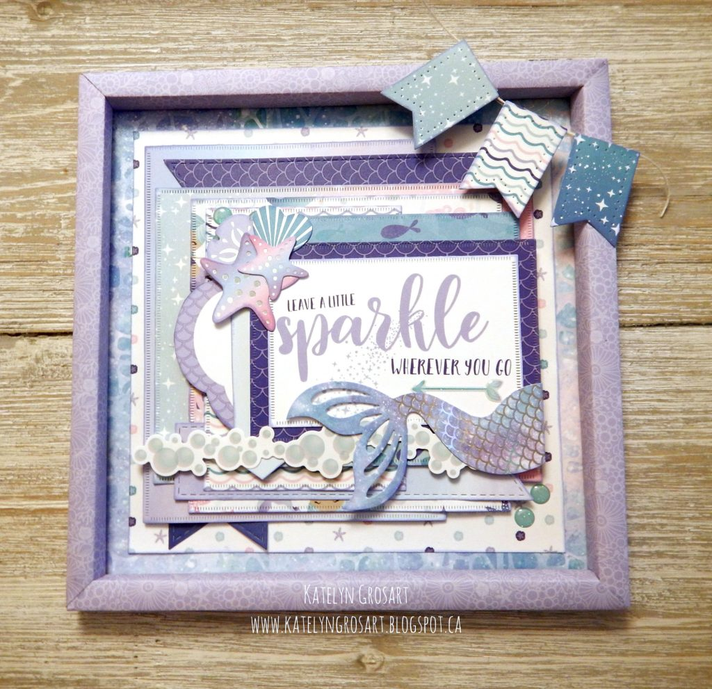Home Decor Frame featuring the Mermaid Cove Collection by Creative Memories   Designed by Katelyn Grosart   Creative Scrapbooker Magazine