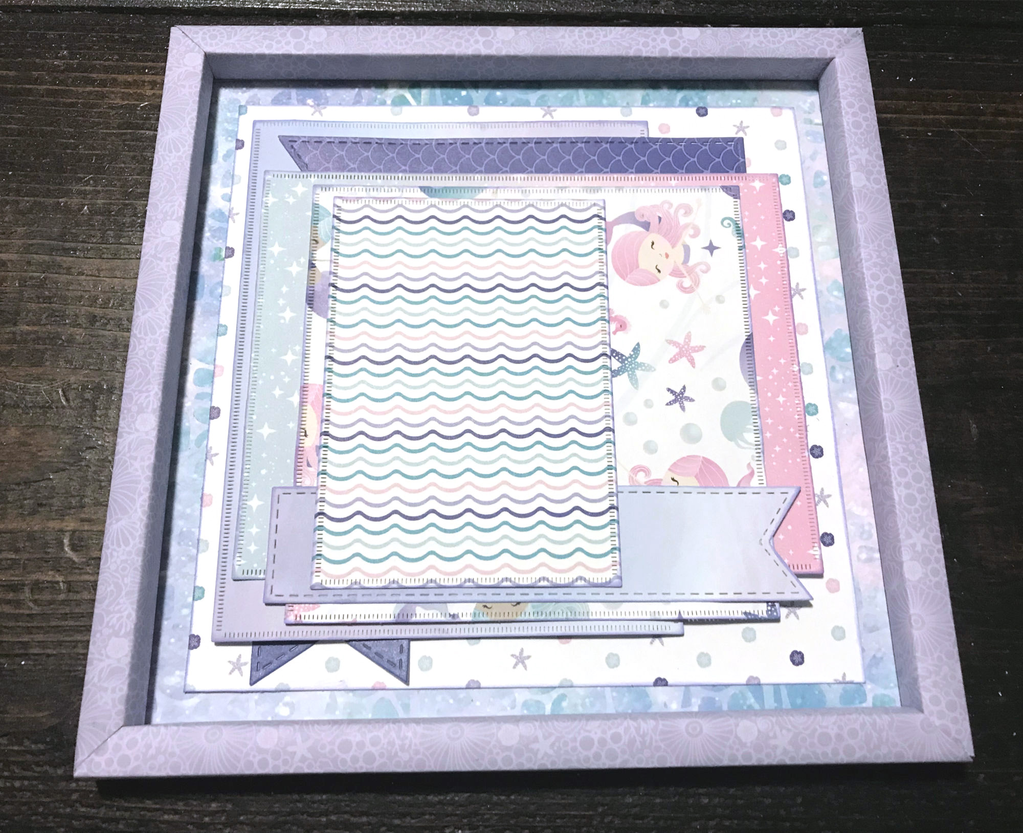 Home Decor Frame featuring the Mermaid Cove Collection by Creative Memories | Designed by Katelyn Grosart | Creative Scrapbooker Magazine