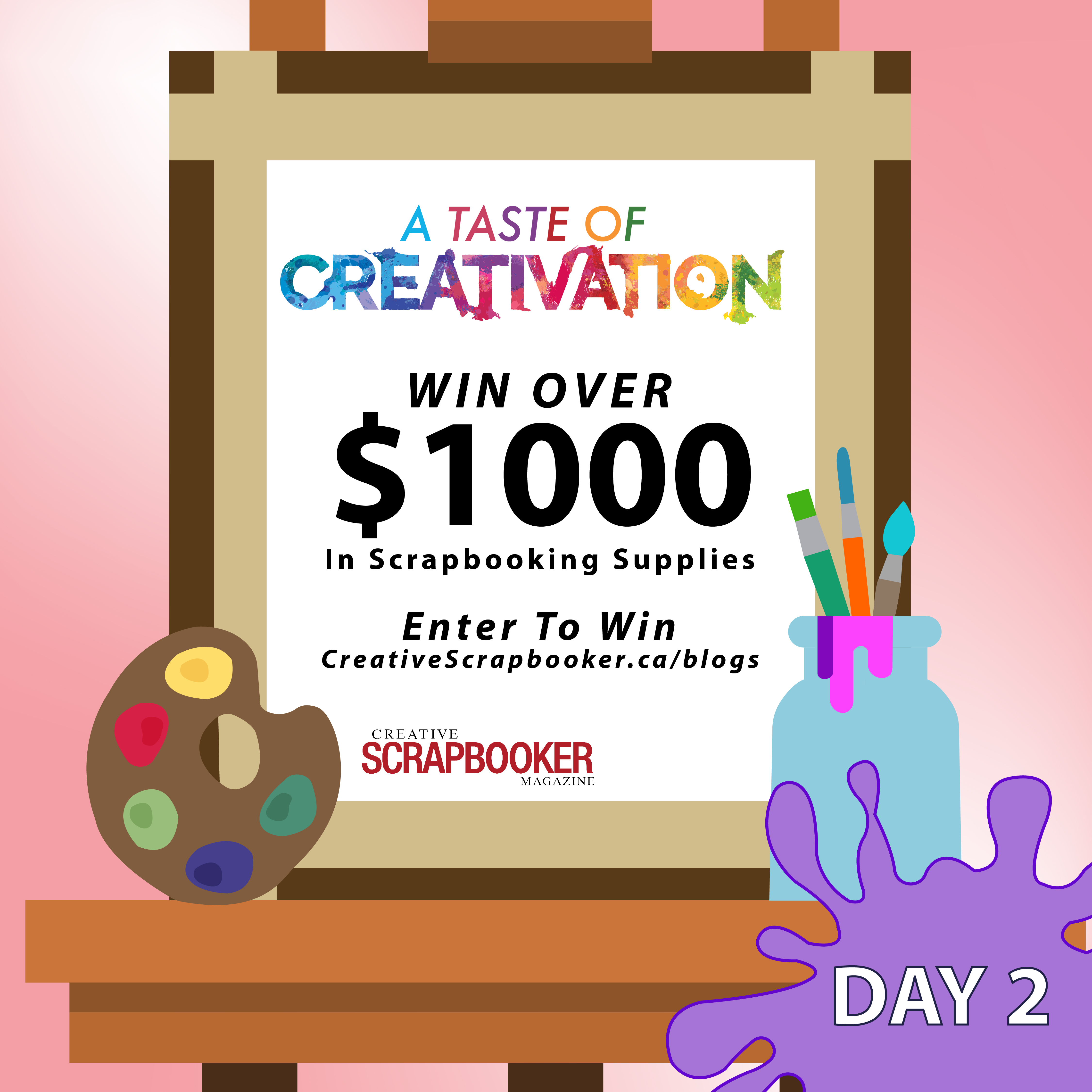 Creativation Giveaway - Day #2 with Creative Scrapbooker Magazine