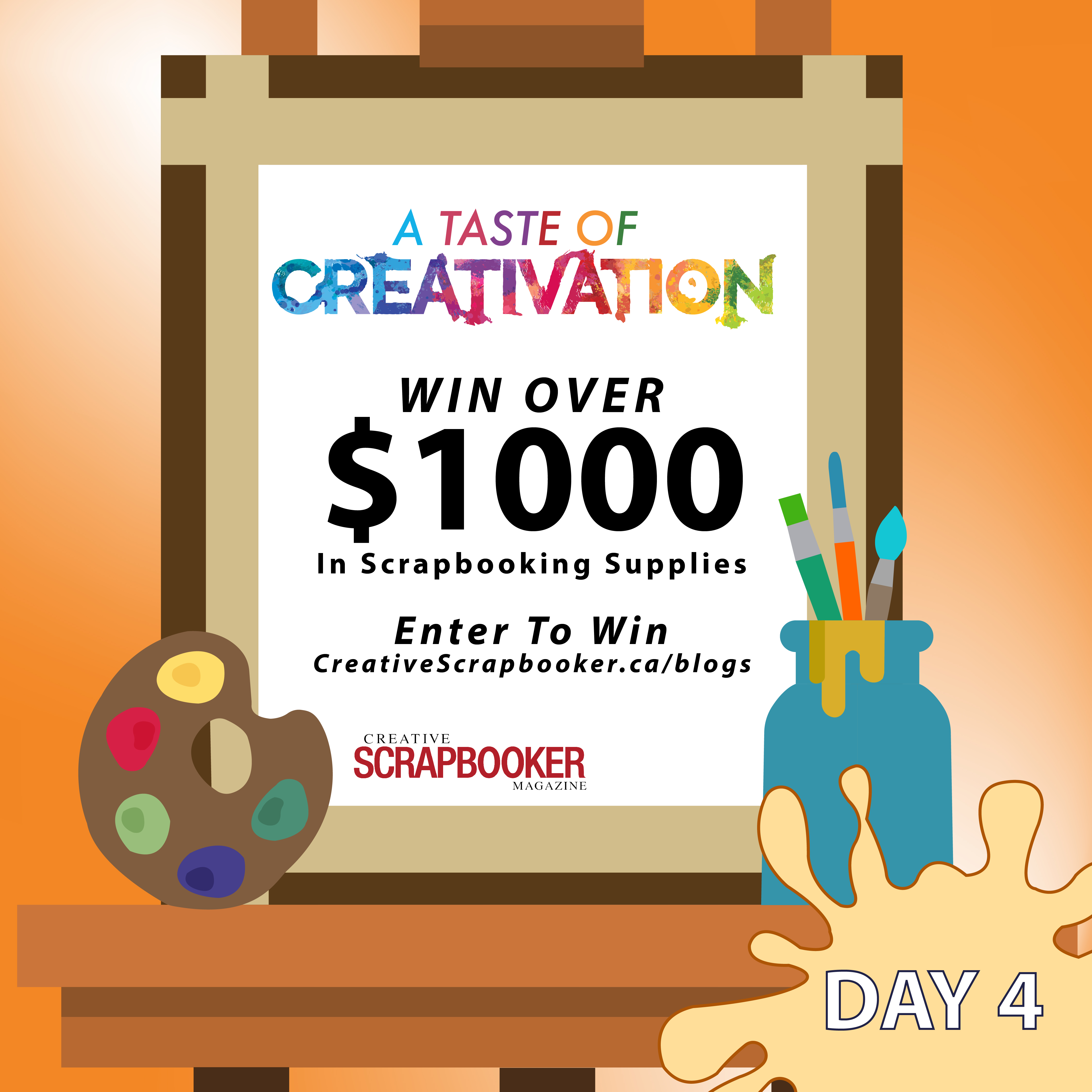 Creativation Giveaway Day #4 with Creative Scrapbooker Magazine
