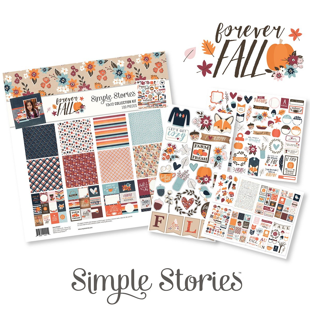 Simple Stories / Forever Fall collection / working with sketches