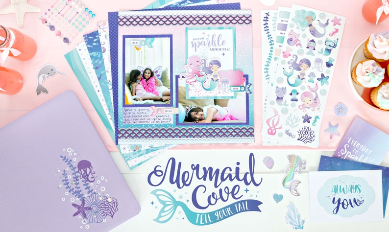 Mermaid Cove Creative Memories | Creative Scrapbooker Magazine