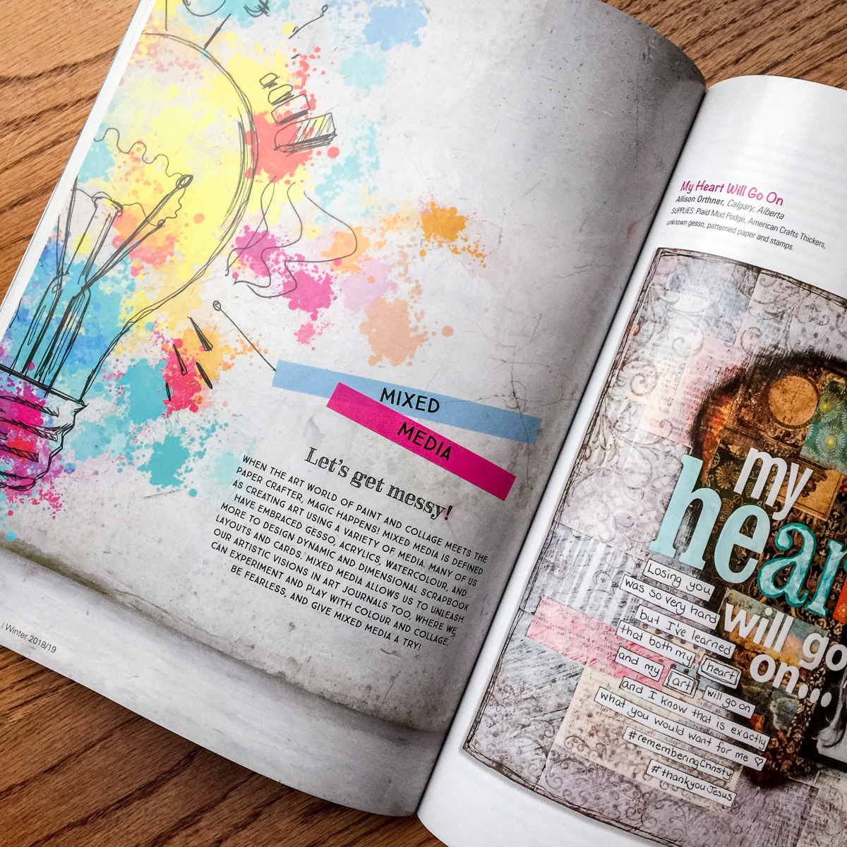 Creative Scrapbooker Magazine / Mixed Media feature / Winter issue
