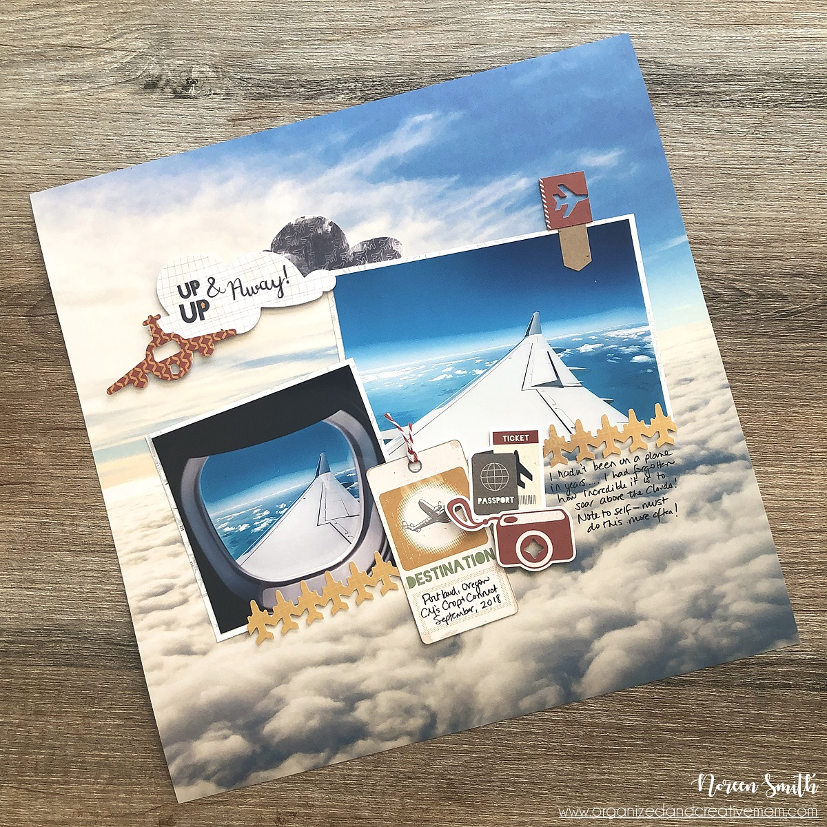 Photographic Background Paper by Creative Memories for 12X12 Scrapbook Layouts Designed by Noreen Smith | Creative Scrapbooker Magazine