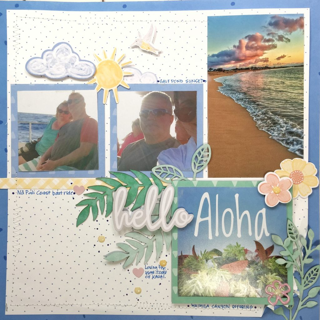 Scrapbook Layout designed featuring the Creative Memories Blend and Bloom Collection - Designed by Kerry Engel | Creative Scrapbooker Magazine