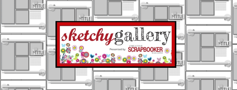 Creative Scrapbooker Magazine Sketchy Challenge Facebook Group Logo | Creative Scrapbooker Magazine