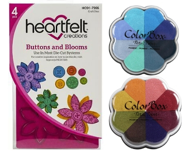 Heartfelt Creations dies and Clearsnap ColorBox Petal Point Pigment Ink Pads | Creative Scrapbooker Magazine